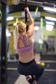 woman doing rope climbing - PhotoDune Item for Sale
