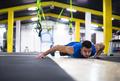 Young  man doing pushups - PhotoDune Item for Sale