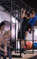 young athletes doing pull ups on the horizontal bar - PhotoDune Item for Sale