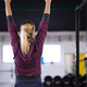 woman doing pull ups on the horizontal bar - PhotoDune Item for Sale