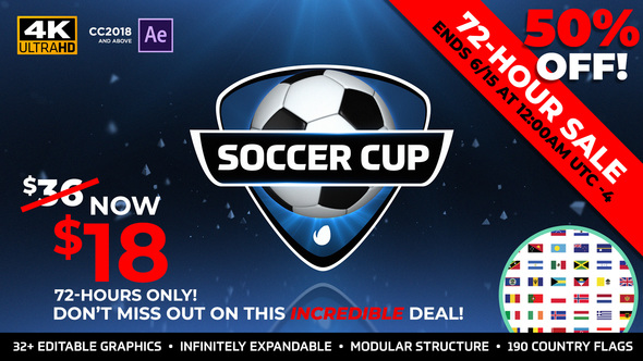 Videohive World Soccer Cup - International Futbol Package 22087981 - Free download