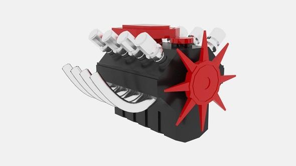 Engine XD Hemi - 3DOcean Item for Sale