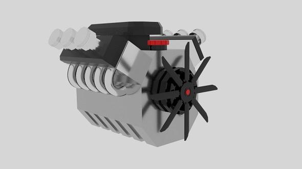 Cartoon Engine Hemi - 3DOcean Item for Sale