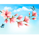 Nature Background with Magnolia Branches