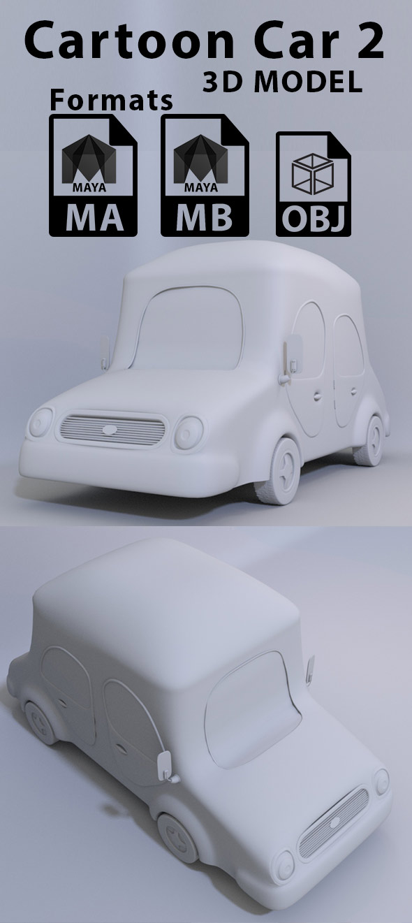 Cartoon Car 2 - 3DOcean Item for Sale
