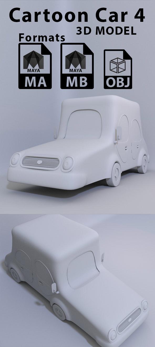 Cartoon Car 4 - 3DOcean Item for Sale