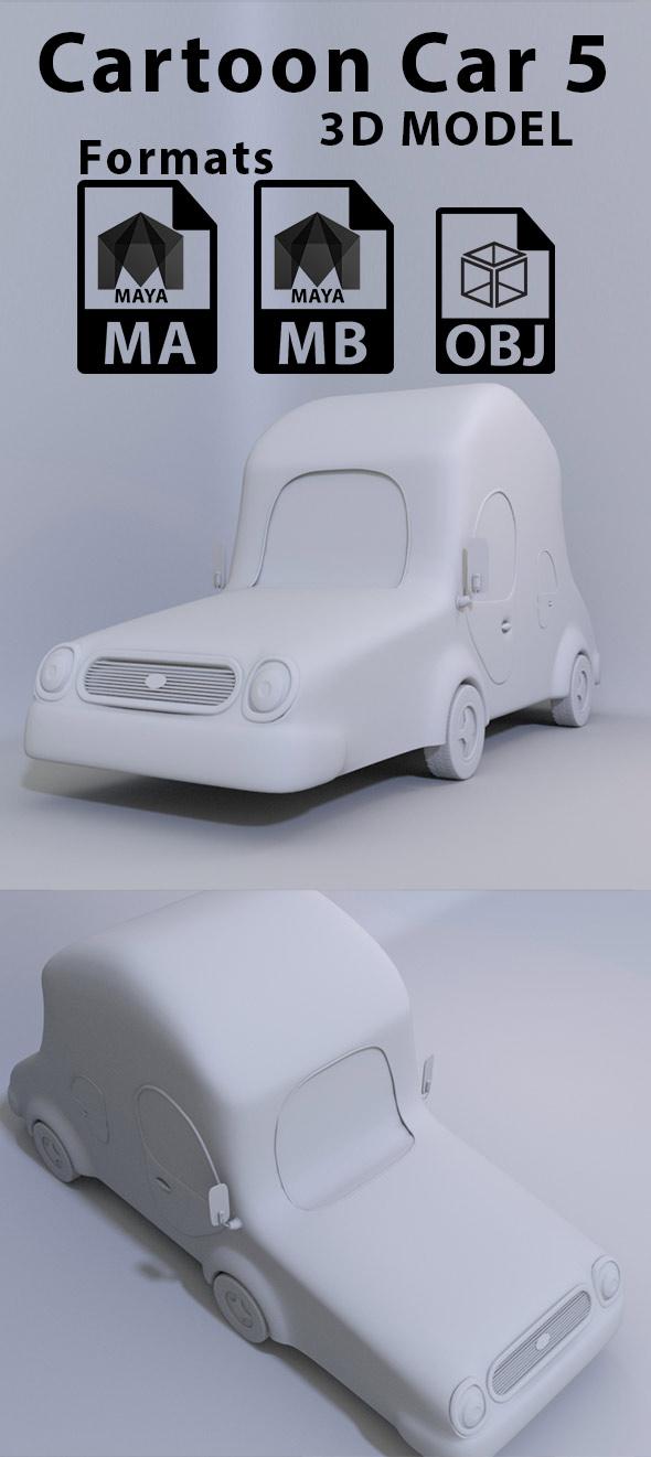 Cartoon Car 5 - 3DOcean Item for Sale