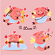 Pig Cupid Character Design - GraphicRiver Item for Sale