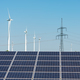 Electricity pylons, solar panels and wind engines - PhotoDune Item for Sale
