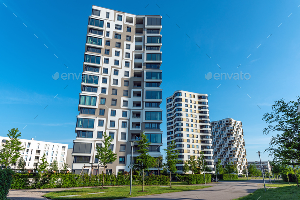 Modern high-rise residential buildings - Stock Photo - Images