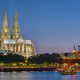 The famous Cologne Cathedral and the river Rhine - PhotoDune Item for Sale