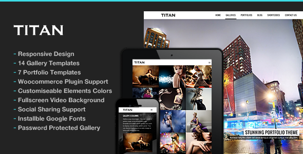Photography WordPress | Titan for Photography - Photography Creative