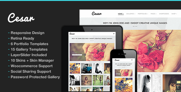 Photography WordPress | Cesar for Photography - Photography Creative
