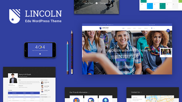 Lincoln - Education Material Design WordPress Theme - Education WordPress