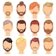 Beards Vector Portraite of Bearded Man with Male