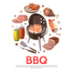 Colorful Barbecue Party Round Concept - GraphicRiver Item for Sale