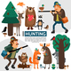 Flat Hunting Composition - GraphicRiver Item for Sale