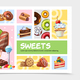Cartoon Sweets Infographic Concept - GraphicRiver Item for Sale