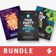 Creative Sound vol7 - Party Flyer Templates Bundle A3 - GraphicRiver Item for Sale