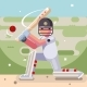 Batting Sport Game Cricket Batsman Baseball Bat - GraphicRiver Item for Sale