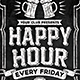 Chalk Board Happy Hour Flyer