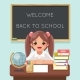 Girl Pupil Student Learns - GraphicRiver Item for Sale