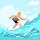 Surfer Rides Water Ocean - GraphicRiver Item for Sale