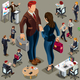 Isometric People in Business Suit