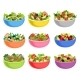 Flat Vector Set of Vegetable and Fruit Salads - GraphicRiver Item for Sale