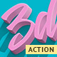3D Text - Action Photoshop - GraphicRiver Item for Sale