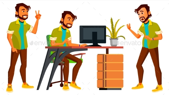 Business Person Vector. Indian Man - People Characters
