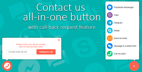 Contact Us All-in-One Button with Callback Request Feature            Nulled