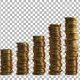 Financial Infographic With Coins - VideoHive Item for Sale