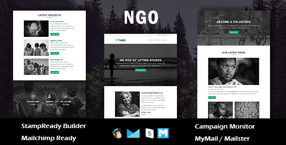 ngo - multipurpose responsive email template with online stampready builder access (newsletters) NGO – Multipurpose Responsive Email Template With Online Stampready Builder Access (Newsletters) 01 preview