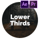 Simple Lower Thirds for Premiere Pro & After Effects - VideoHive Item for Sale