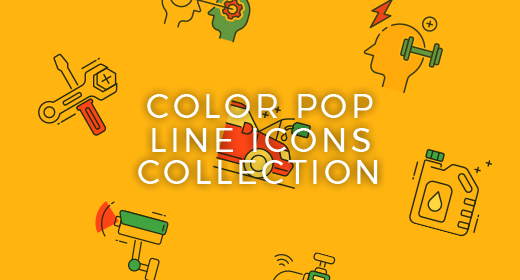 Color Pop Line Icons Collection