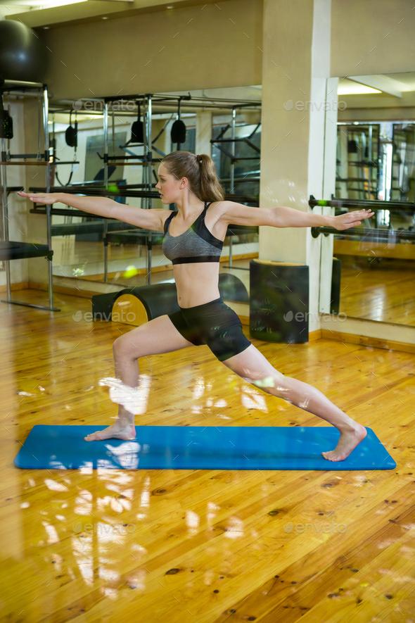 Beautiful woman practicing yoga - Stock Photo - Images
