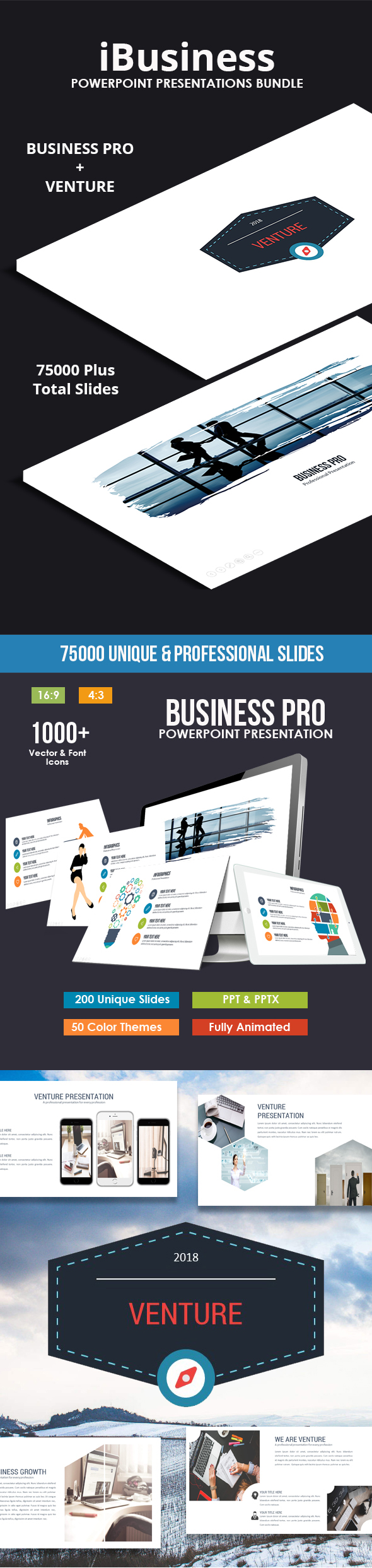 iBusiness 2018 Powerpoint Bundle - Business PowerPoint Templates
