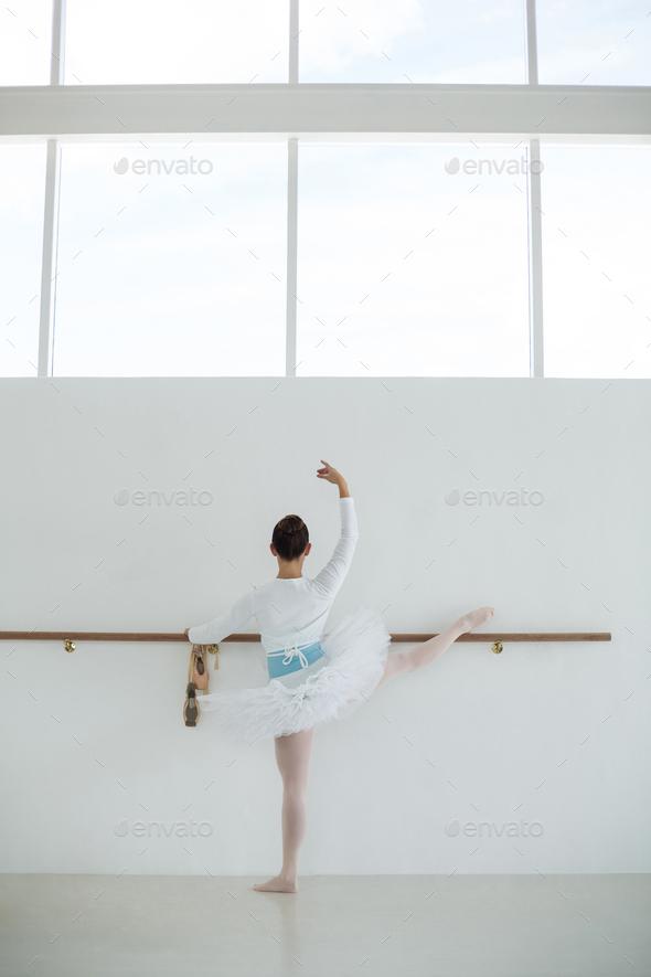 Ballerina practicing ballet dance - Stock Photo - Images