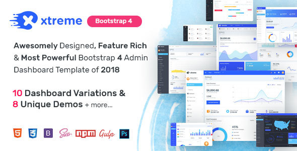Image of Xtreme Admin - Powerful Bootstrap 4 Dashboard Template