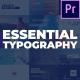 Essential Typography Pack - For Premiere Pro - VideoHive Item for Sale