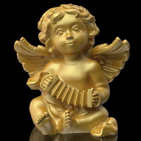 Angel statuette 3D print model - 3DOcean Item for Sale