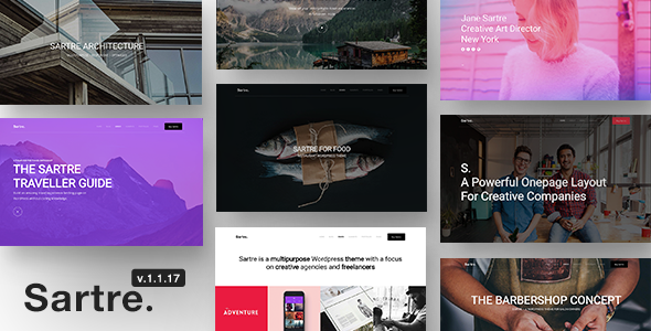 Sartre - Responsive Multipurpose WordPress Theme for Creatives