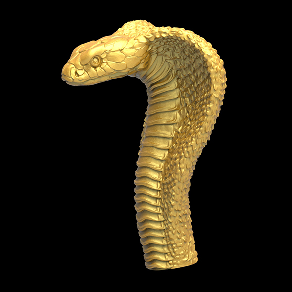 Cobra head 3D print model - 3DOcean Item for Sale
