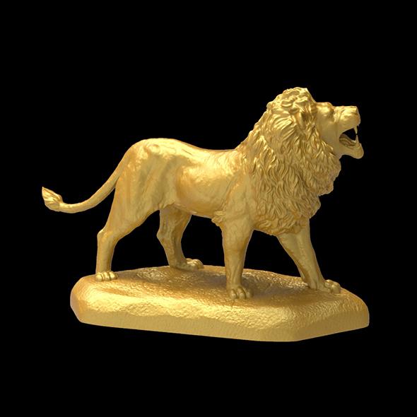 Big Lion Sculpture 3D print model - 3DOcean Item for Sale