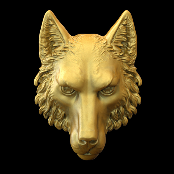 Wolf head 3D print model - 3DOcean Item for Sale