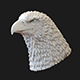 Eagle head 3D print model - 3DOcean Item for Sale