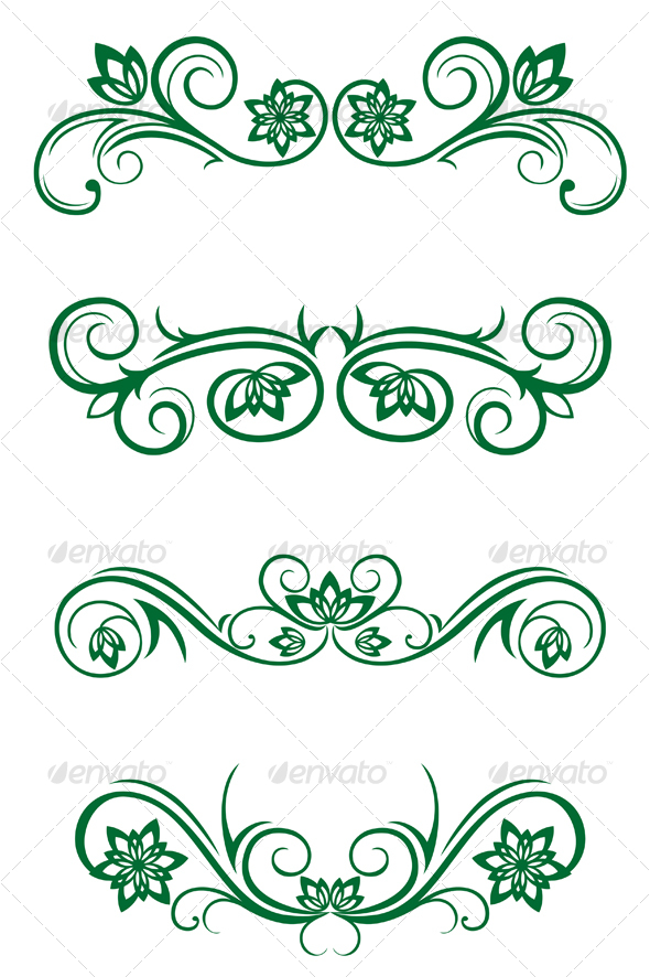 Vintage floral decorations - Flourishes / Swirls Decorative