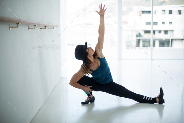 Dancer practicing dance - Stock Photo - Images