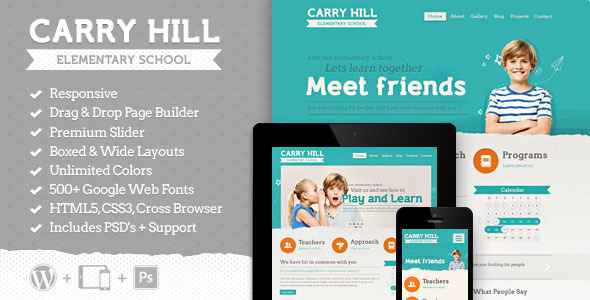 Carry Hill School - Responsive Wordpress Theme